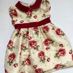 Janie and Jack Silk Rose Dress